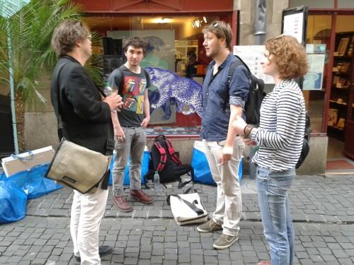 Installation - phase extérieure (Stéphane Bovon, Félix Prautzsch, Alexandre Grandjean, Juliette Lenoir)