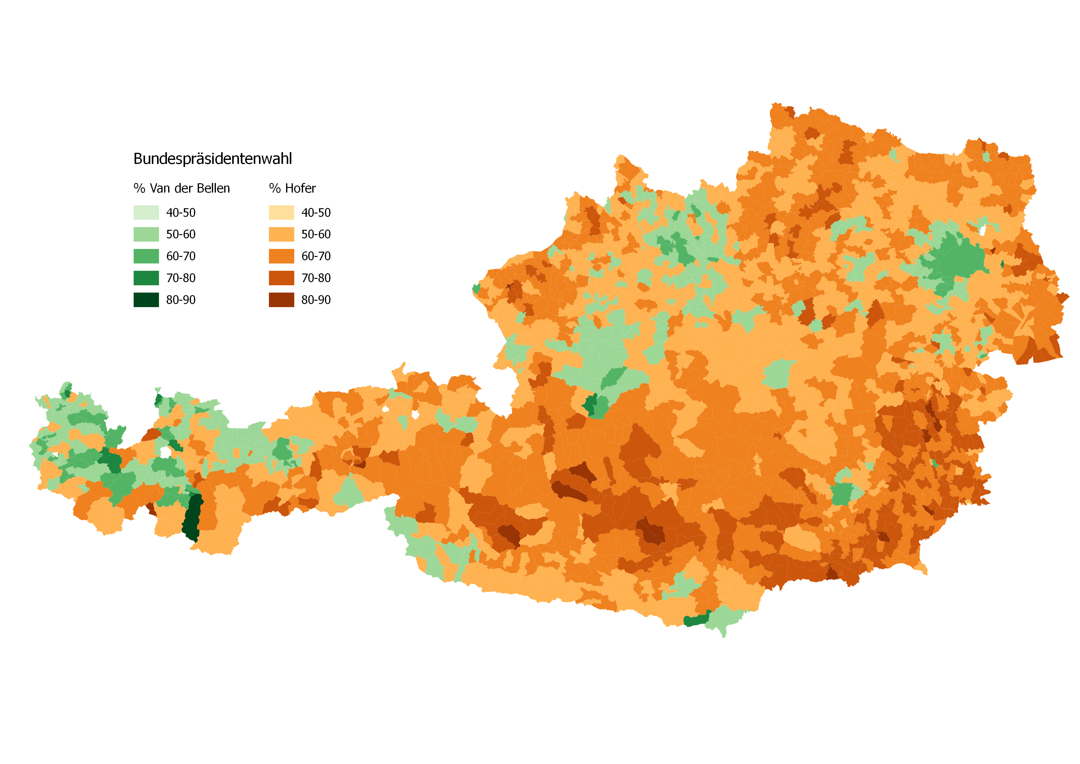 Why Map The Austrian Presidential Election In D Maps And Spaces - Austria map