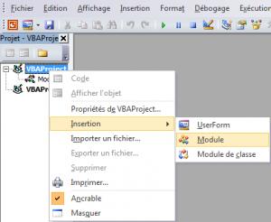 New module in Visual Basic