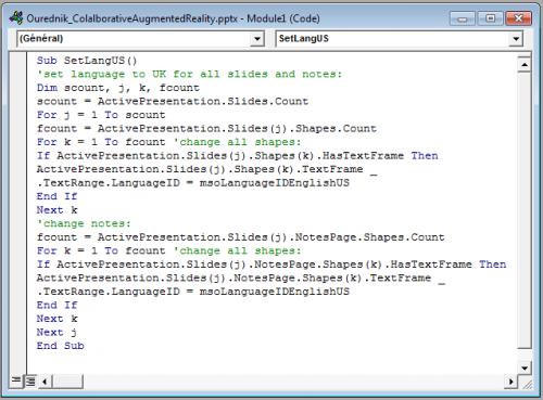 Code Window in Visual Basic