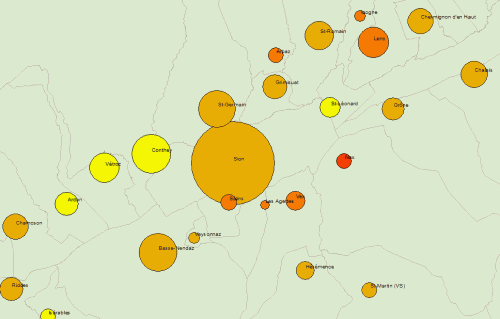 Bivariate symbol map with sorted overlapping circles in ArcMap