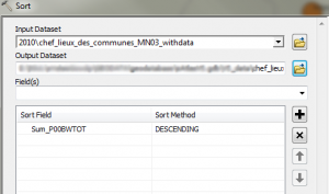 Sorting data in ArcMap