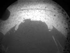 First image taken by NASA's Curiosity rover, landed on Mars in the morning of August 6.