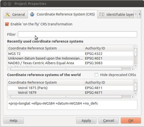 Gérer les projections dans un logiciel de SIG (qGIS) et exporter la carte finale sous forme d'image