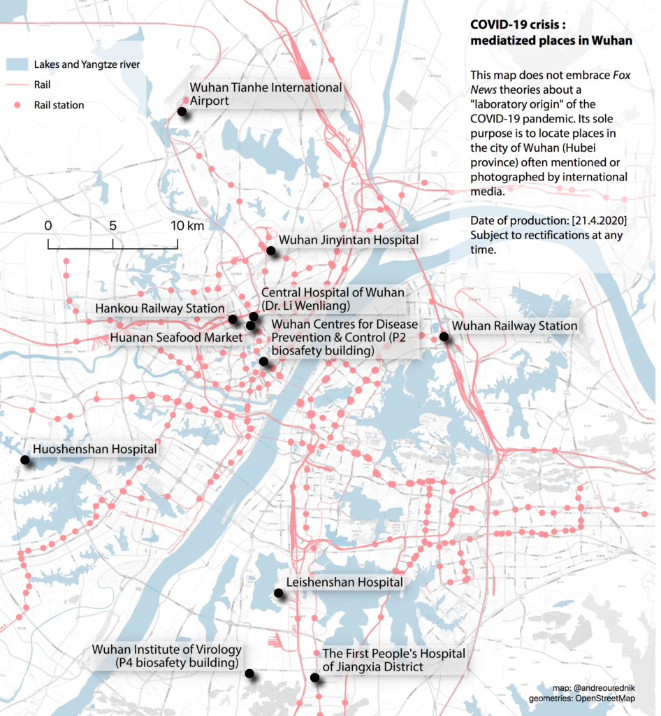 Mediatized places in Wuhan in the context of the COVID-19 crisis